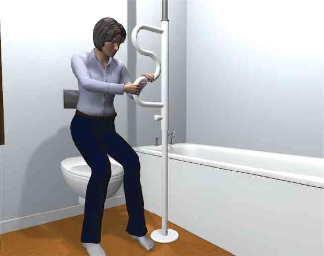 aufstehhilfe boden deckenstange mit griff. Black Bedroom Furniture Sets. Home Design Ideas