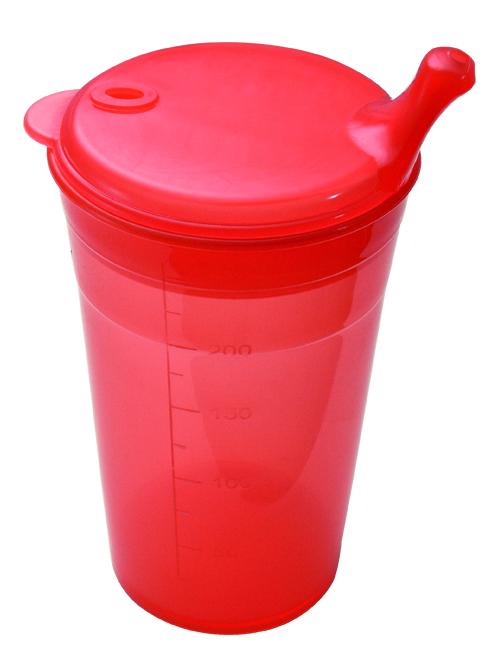 Farbenfrohe Trinkbecher mit Deckel - Alltagshilfen24.com